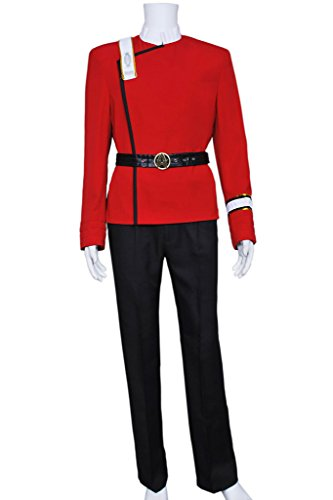 CosplayNow Star Trek Wrath Of Khan Cosplay Costume Red Male (Wrath Costume Men)