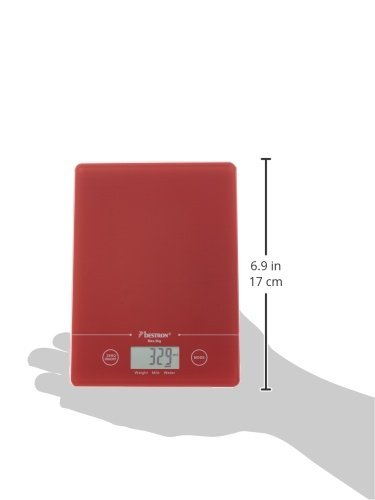 Capacidad de carga 5 kg Blanca Precisi/ón hasta 1 g Cristal Bestron B/áscula Digital de Cocina con Pantalla LCD