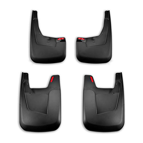 - Tecoom Mud Flaps Splash Guards Front and Rear Black Set of 4 for 2019 Ram 1500 w/o OEM Fender Flares ABS Molded