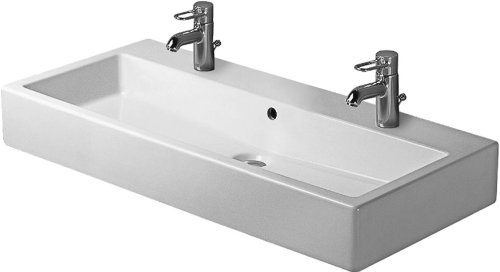 Duravit 04541000261 100 cm Vero Wash Basin, White - Double Bathroom Sink