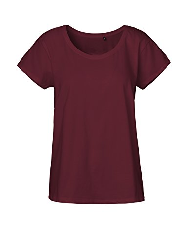 NEUTRAL Ladies Loose Fit T-shirt, 100% organic cotton and Fairtrade certified, color bordeaux, size - Color Bordeaux The
