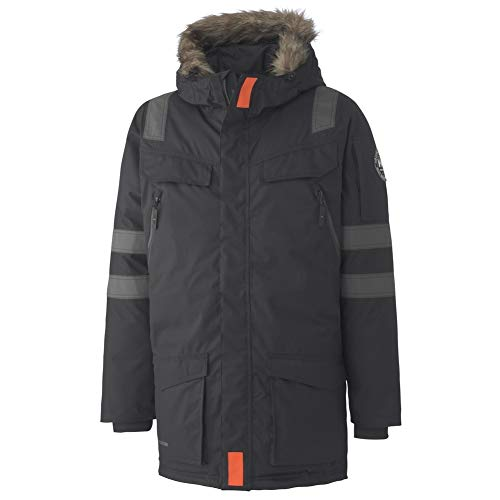 Helly Hansen Work Wear Men's Boden Down Parka Winter Coat, Black, Medium