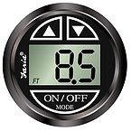 Faria 923-009 Black 12851 Depth Sounder with in-Hull Mounted Transducer-Euro