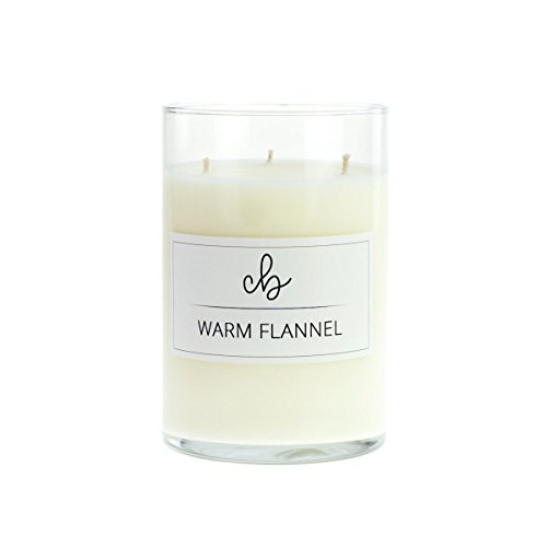 CandleBox Store Warm Flannel Handmade Soy Wax Candle, Amber, Minty Vanilla, Pine, Balsam, Cinnamon and Spice Scented, 23.1 Ounces, 88 Hours Burn Time, - Mint Brisk