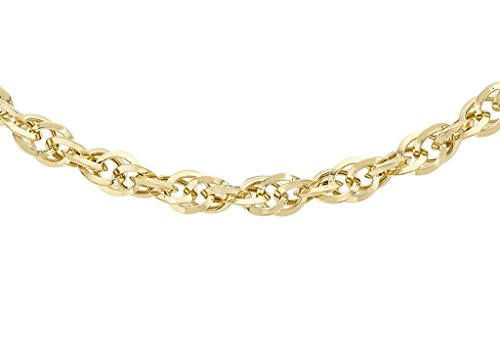 9ct or jaune 60Coupe diamant Chaîne Prince de Galles 41cm/16'