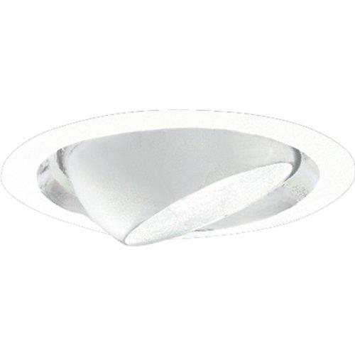 Recessed Trim Lighting Progress (Progress Lighting P6676-29 Eyeball Rotates 358 Degrees and Tilts 30 Degrees Maximum Where Insulation Must Be 3-Inch From Housing 7-3/4-Inch Outside Diameter, Satin White)