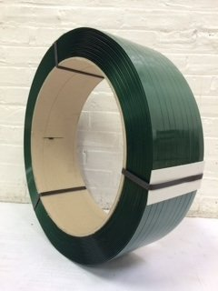 5/8'' 4,200 Ft Polyester Strapping, 1,400lb Tensile Strength, Green by S&G Strapping