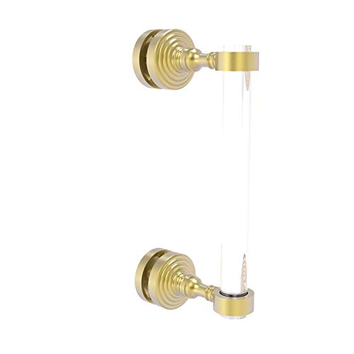 Allied Brass PG-407-8SM Pacific Grove Collection 8 Inch Single Side Shower Door Pull, Satin Brass (Pacific Grove Furniture)