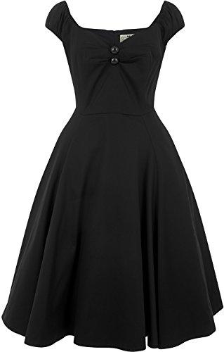 Schwarz Collectif Swingkleid Dolores Vintage Kleid Damen 4wqCSa