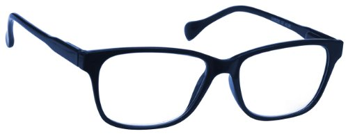 Navy Blue Lightweight Near Short Sighted Distance Glasses for Myopia Designer Style Mens Womens Spring Hinges M27-3 -1.50