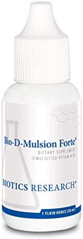 Biotics Research Bio-D-Mulsion Forte © - Vitamin D3 Liquid Drops 50 MCG(2000 IU) for Best Absorption, Strengthens Bones, Supports The Immune System, Cardiovascular System