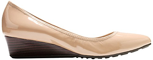 Cole Haan Womens Tali Luxe Wedge 40mm 7 Maple Sugar Patent by Cole Haan