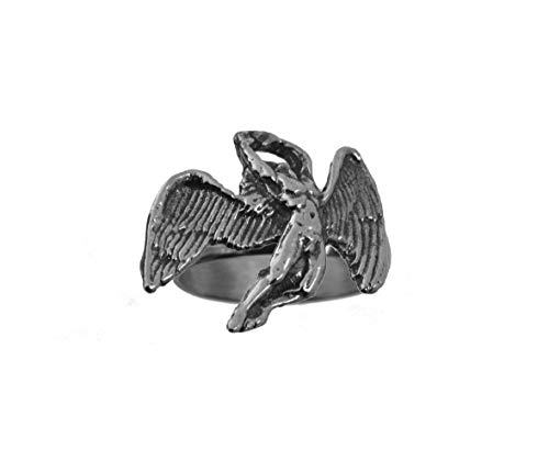 (prince of diamonds Greek Mythology Icarus Wings 925 Sterling Silver 925 Jewelry Ring Labyrinth)