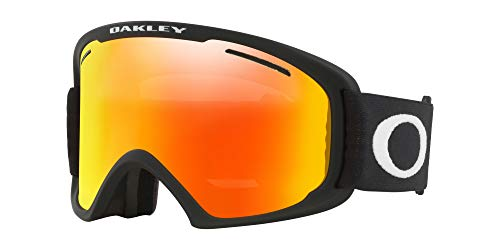 Oakley O Frame 2.0 Asian Fit Snow Goggle, Matte Black, Large, Fire Iridium Lens