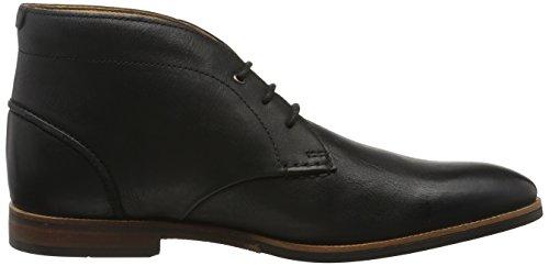 Clarks Broyd Mid, Botines para Hombre Negro (Black Leather)