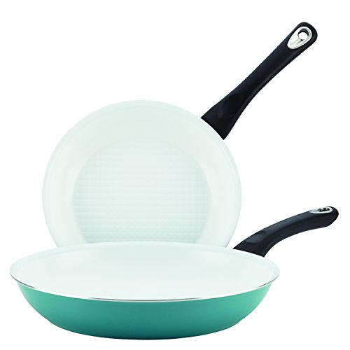 Farberware Purecook Ceramic Nonstick Cookware Twin Pack and Skillets, 9 1/4