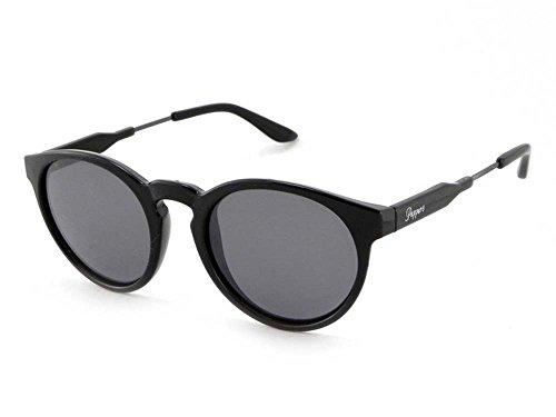 Peppers Polarized Sunglasses Kennedy Shiny Black with Smoke - Sunglasses Kennedy