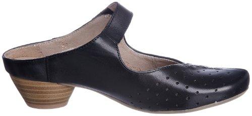 Remonte Dorndorf - Zuecos de cuero para mujer Negro