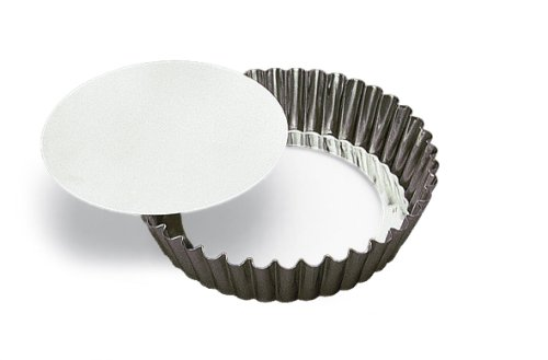 SCI Scandicrafts Fluted Deep Tart/Quiche Mold, Removable Bottom 10-inch Diameter by 2-inch Deep Blueberry Pie Collection