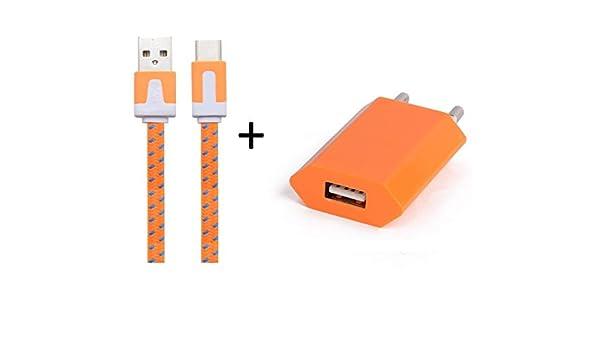 Shot Case Cargador Adaptador USB para Lenovo K5 Smartphone/Tablet Naranja: Amazon.es: Electrónica