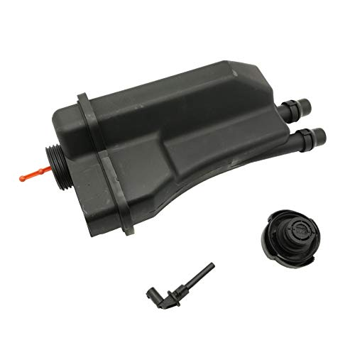 (OKAY MOTOR Engine Coolant Reservoir Expansion Tank + Cap + Sensor for BMW E39 525i 528i 530i M54/M52)