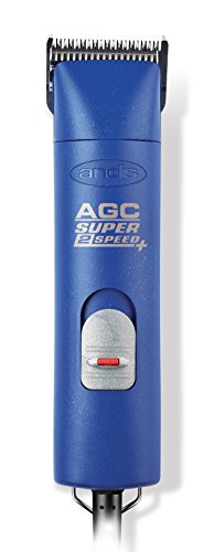 Andis UltraEdge AGC Super 2-Speed Detachable Blade Clipper, Professional Animal Grooming, Blue, AGC2 (22405)