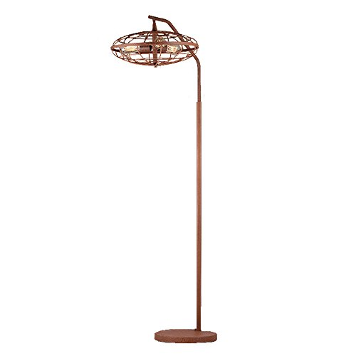 Warehouse of Tiffany F1703-3 Pioko Speckled Copper Caged Floor Lamp