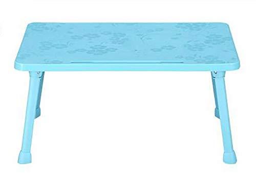 プラスチック 折りたたみ式 テーブル ノートパソコン テーブル 大学 レイジーベッド 勉強 テーブル 多機能 シンプル 子供用 テーブル 657-516  ブルー01 B07KQY3Y5T