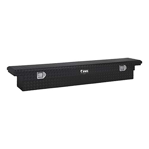 UWS EC10552 69-Inch Slim Black Truck Bed Tool Box with Low ()