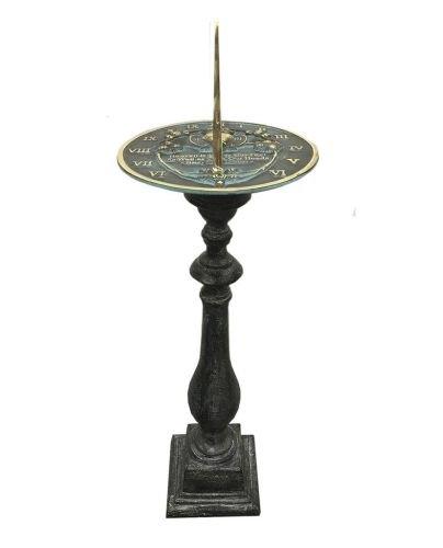 Rome Cast Aluminum Spindle Pedestal For Sundials, (Cast Aluminum Sundial)