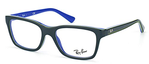 Ray Ban Junior RY1536 Eyeglasses-3600 Top Dark Gray On Blue-46mm