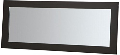 PLATEAU SL-MIR 44 x 20 B Wood Mirror, 44 by 20-Inch, Black Satin Paint Finish