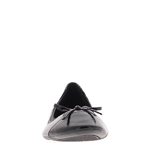 Verniciato bi materiale ballerina nera