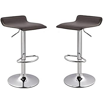 Amazon Com Apontus Pu Leather Swivel Hydraulic Bar Stool