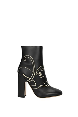 Women Leather Black VALENTINO Ankle 1S0D25AQM Boots UK GARAVANI TwqAqt6