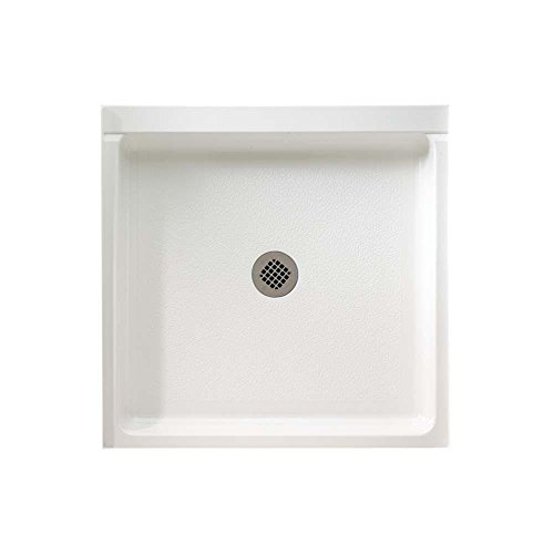 Swanstone SD03636MD.010 Solid Surface Center Drain Shower Base 36-in L X 36-in H X 5.5-in H White ()