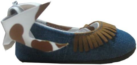 Mud Pie Baby Eieio Denim Ballet Flats, Horse, 0 6 Months
