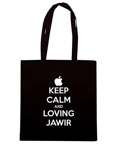 Speed Shirt Borsa Shopper Nera TKC2638 KEEP CALM AND LOVING JAWIR