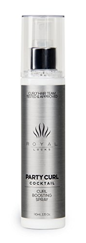 Curly Hair Recharging Party Curl Cocktail by Royal Locks. Curl Defining Enhancing Spray. Define and Moisturized Curls Without Build Up .Argan Oil Infused, UV and Thermal Protection. New Lighter Scent