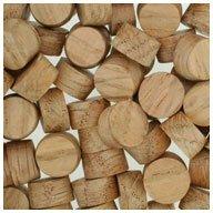 WIDGETCO 7/16' Oak Wood Plugs, Face Grain