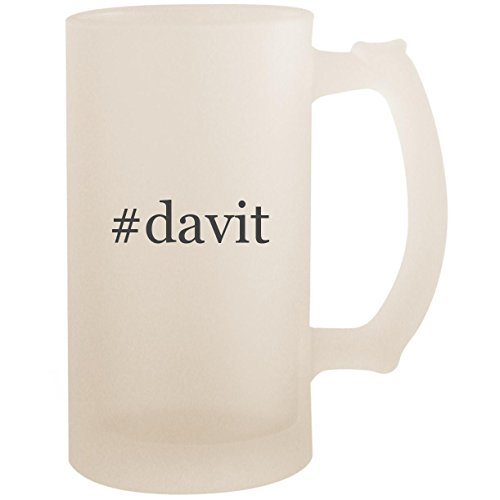 #davit - 16oz Glass Frosted Beer Stein Mug, Frosted