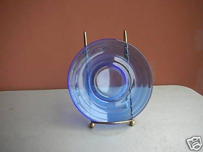 Hazel Atlas Moderntone Cobalt Blue Saucer 5 1/2