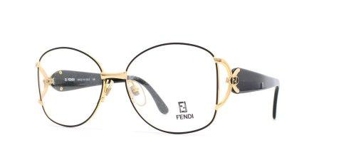 Fendi 236 529 Black and Gold Authentic Women Vintage Eyeglasses Frame