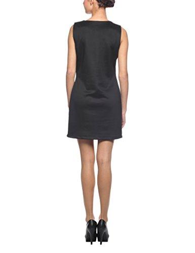 Solo Capri Abito Asimmetrico Bicolore, Vestido para Mujer Negro