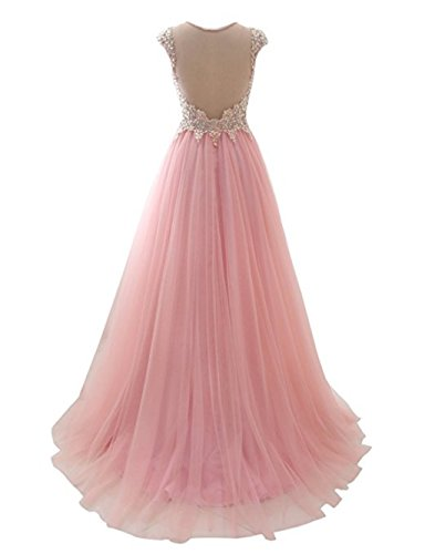 Rhinestone A7 Prom Tulle Wedding Long Formal Annies Bridal Applique Gown Womens Dress UPqYvw4