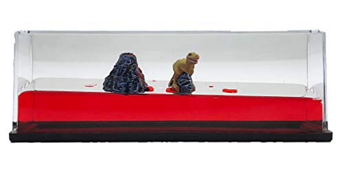 Universal Specialties Liquid Wave Paperweight Desk Toy (Dinosaur & Volcano)