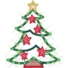 Impact Innovations Christmas Lighted Window Decoration, Tree (Decorations Christmas Shop Display Window)