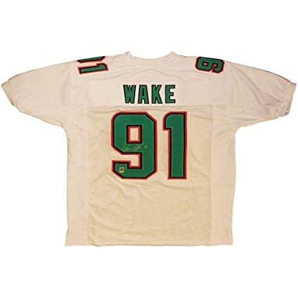 Wholesale Cameron Cam Wake Autographed Signed Auto Miami Dolphins White #91  hot sale