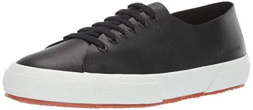 Superga Women's 2750 RAWCUTLEATHERU Sneaker, Black Leather, 39 M EU (8 US)