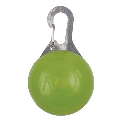 Nite Ize SpotLit Clip-On LED Light with Carabiner, Weather Resistant, Round Package, Lime -